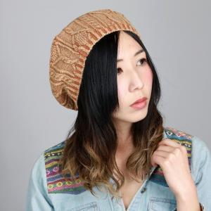 春夏 ニット帽 レディース ニットベレー帽 洗い加工 ケーブル編み ルーベン ニット ベレー帽 帽子 ベレー メンズ RUBEN/オレンジ|elehelm-hatstore