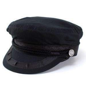 キャップ メンズ レディース 帽子 マリンキャップ ヨット ファッション コットン 夏 ブラック|elehelm-hatstore