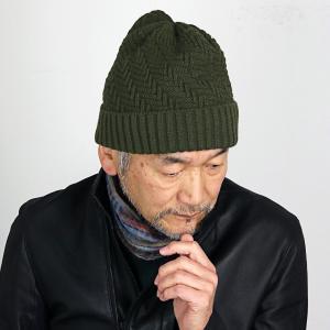 SIMPLE LIFE ニット帽 メンズ シンプルライフ 秋冬 ニット帽 レディース 帽子 メンズ ニットワッチ 普段使い 日本製 プレゼント/カーキ|elehelm-hatstore
