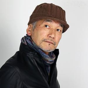つば付き シンプルライフ ニットキャスケット 帽子 レディース 冬 日本製 プレゼント SIMPLE LIFE ニットキャップ オスロ ニット帽 メンズ/茶 ブラウン|elehelm-hatstore