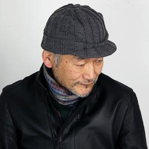 プレゼント SIMPLE LIFE ニットキャップ つば付き シンプルライフ ニットキャスケット 帽子 レディース 冬 日本製 オスロ ニット帽 メンズ/チャコール|elehelm-hatstore