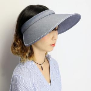 レディース 紫外線対策 ブランド 帽子 SIMPLE LIFE 日よけ つば広 送料無料 クリップバイザー シンプルライフ UV対策 ネイビー|elehelm-hatstore