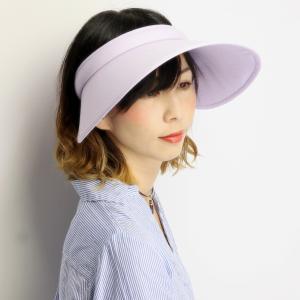 ブランド 帽子 SIMPLE LIFE 日よけ レディース 紫外線対策 つば広 送料無料 クリップバイザー シンプルライフ UV対策 パープル|elehelm-hatstore