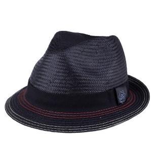 ストローハット 帽子 ハット メンズ レディース カルロスサンタナ 春夏 インポート Holistic 中折れ ブラック|elehelm-hatstore