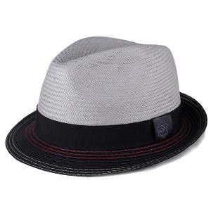 メンズ ハット 帽子 カルロスサンタナ レディース 春夏 インポート Holistic ストローハット 中折れ グレー|elehelm-hatstore