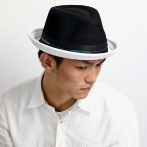 中折れ帽 CARLOS SANTANA 秋冬 ハット 送料無料 インポート メンズ ツートーン ブランド カルロス サンタナ バイカラー 刺繍 ウール 個性的 レディース ブラック|elehelm-hatstore