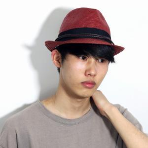 春 夏 CARLOS SANTANA 帽子 メンズ 涼しい カジュアル ペーパー素材 レディース 中折れ帽 カルロス サンタナ 赤 レッド ブリック elehelm-hatstore