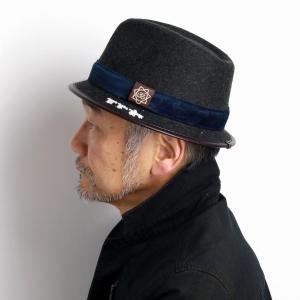 カルロスサンタナ 帽子 ハット ウール フェルト 秋冬 CARLOS SANTANA ソフトハット インポート チャコールグレー|elehelm-hatstore