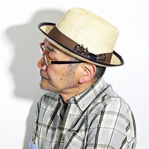 中折れ 麦わら帽子 インポート CARLOS SANTANA 帽子 メンズ レディース 春 夏 個性的 ペーパーハット カルロス サンタナ 茶 ブラウン ナチュラル|elehelm-hatstore