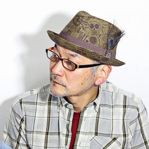 CARLOS SANTANA 帽子 メンズ レディース 春 夏 ペーパーハット スカル 柄 カルロス サンタナ 髑髏 プリント ユニーク オリーブ ブラウン ティー|elehelm-hatstore