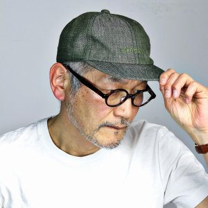 キャップ 麻 リネン ヘリンボン 6方キャップ 春夏 帽子 ヘリンボーン柄 ROYAL STETSON ロイヤル ステットソン メンズ 緑 グリーン elehelm-hatstore