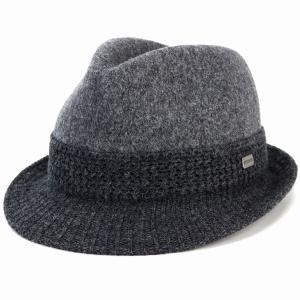 ステットソン  バスク マニッシュ ハット中折れ帽 秋冬 毛混 stetson 中折れ 帽子 メンズ レディース 日本製 大きいサイズ チャコール|elehelm-hatstore