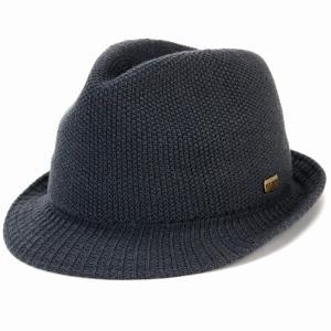 中折れ帽 ステットソン 無地 ニット マニッシュ ハット  シンプル 中折れ 帽子 メンズ レディース 秋冬stetson 日本製 グレー|elehelm-hatstore