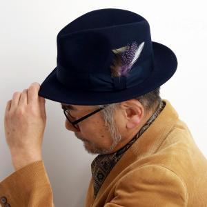 STETSON 帽子 メンズ ハット ステットソン フェルトハット ウール クラッシャブル ソフトハット ネイビー|elehelm-hatstore