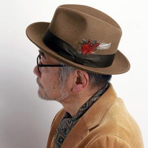 メンズ ハット ステットソン 帽子  STETSON フェルトハット ウール クラッシャブル ソフトハット キャメル|elehelm-hatstore