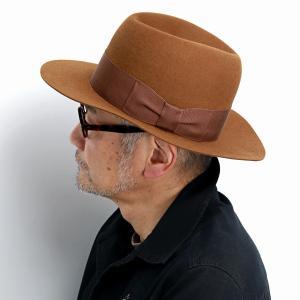 STETSON フェルトハット ファーフェルト 高級 ハット オープンクラウン ステットソン メンズ  つば広 紳士 帽子 クラシック ブラウン 茶 キャメル elehelm-hatstore