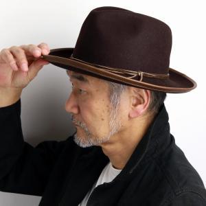 ステットソン メンズ ワイドブリム ダスティー フェルトハット 西部劇 帽子 STETSON ジャパンメイド 日本製 ブラウン 茶 elehelm-hatstore