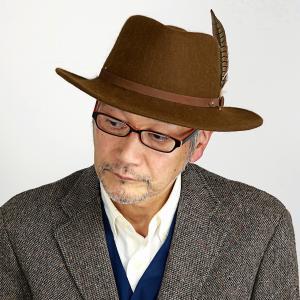 中折れハット 秋冬 ステットソン 送料無料 STETSON ウール フェルト 帽子 日本企画 メンズ ワイドブリム ハット 羽根付きスエードベルト キャメル|elehelm-hatstore