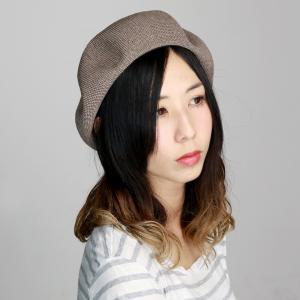 ベレー帽  ゆったり サマーベレー ユニセックス 大きめ beret 涼しい メンズ クリスピーベレー 帽子 レディース シンプル グレーベージュ|elehelm-hatstore