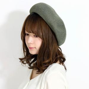 クリスピーベレー メンズ 涼しい 大きめ beret シンプル ベレー帽 レディース ゆったり 帽子 ユニセックス サマーベレー カーキ elehelm-hatstore