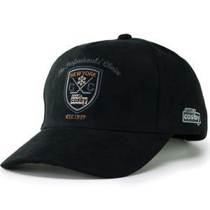 キャップ メンズ 帽子 CAP スポーツ ブランド COSBY コスビー 秋冬 スエード調 アメリカン カジュアル 黒 ブラック