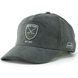スエード調 キャップ メンズ 帽子 秋冬 アメリカン カジュアル CAP スポーツ ブランド COSBY コスビー 灰 グレー