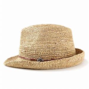 麦わら帽子 ハット メンズ ハット レディース ストローハット レディス 中折れハット ラフィア 大きい 大きいサイズあり ベージュ|elehelm-hatstore|02