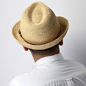 麦わら帽子 ハット メンズ ハット レディース ストローハット レディス 中折れハット ラフィア 大きい 大きいサイズあり ベージュ|elehelm-hatstore|12