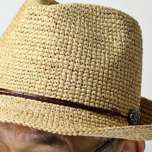 麦わら帽子 ハット メンズ ハット レディース ストローハット レディス 中折れハット ラフィア 大きい 大きいサイズあり ベージュ|elehelm-hatstore|13