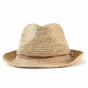 麦わら帽子 ハット メンズ ハット レディース ストローハット レディス 中折れハット ラフィア 大きい 大きいサイズあり ベージュ|elehelm-hatstore|03