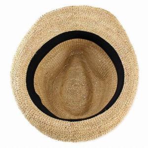 麦わら帽子 ハット メンズ ハット レディース ストローハット レディス 中折れハット ラフィア 大きい 大きいサイズあり ベージュ|elehelm-hatstore|06
