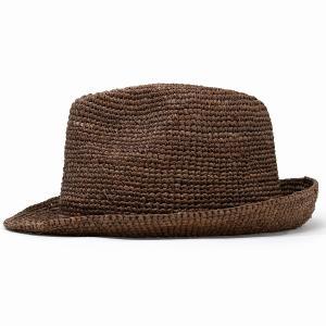 ストローハット ハット メンズ レディース 麦わら帽子 中折れハット 夏 56cm 58cm 60cm 62cm ラフィアハット 茶色 ブラウン|elehelm-hatstore|02