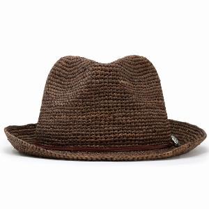 ストローハット ハット メンズ レディース 麦わら帽子 中折れハット 夏 56cm 58cm 60cm 62cm ラフィアハット 茶色 ブラウン|elehelm-hatstore|03