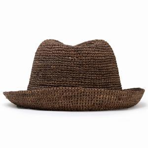 ストローハット ハット メンズ レディース 麦わら帽子 中折れハット 夏 56cm 58cm 60cm 62cm ラフィアハット 茶色 ブラウン|elehelm-hatstore|04