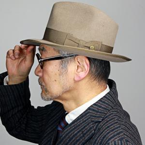 Ver.2 ビーバー ラビット ステットソン ヴィンテージ ウィペット 中折れ 高級 ハット メンズ  STETSON WHIPPET アメリカ ブランド 紳士 帽子/ベージュ|elehelm-hatstore