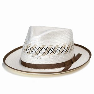 ステットソン  パナマ帽 メンズ ハット 中折れハット STETSON アメリカ製 ブランド パナマハット 帽子 Kappa アイボリー|elehelm-hatstore