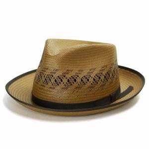 STETSON  パナマハット メンズ ハット 中折れハット ステットソン アメリカ製 ブランド パナマ帽 帽子 Kappa マスタード ブラウン|elehelm-hatstore