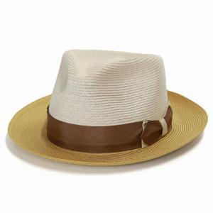 ステットソン ヘンプ ハット メンズ 中折れハット 麻 ブレード STETSON アメリカ製 ブランド 帽子 Park Ave アイボリー|elehelm-hatstore