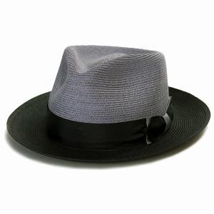 ヘンプ ハット メンズ ステットソン 中折れハット 麻 ブレード STETSON アメリカ製 ブランド 帽子 Park Ave ブルー|elehelm-hatstore