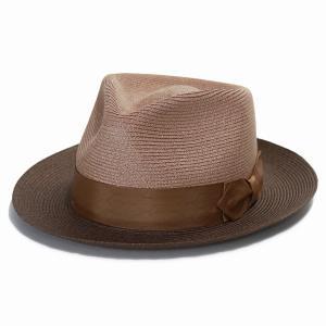 麻 中折れハット STETSON ヘンプ ハット メンズ 中折れハット 麻 ブレード ステットソン アメリカ製 ブランド 帽子 Park Ave ブラウン|elehelm-hatstore