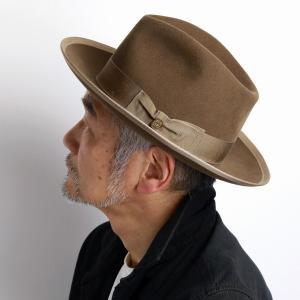 ステットソン ヴィンテージ ウィペット 中折れ 高級 ハット メンズ  フェルトハット STETSON WHIPPET アメリカ ブランド 紳士 帽子 クラシカル ベージュ|elehelm-hatstore
