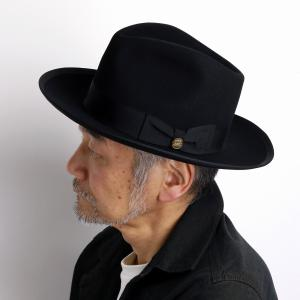 ヴィンテージ ウィペット STETSON WHIPPET 高級 フェルトハット ステットソン 中折れ ハット メンズ  アメリカ ブランド 紳士 帽子 クラシカル 黒 ブラック|elehelm-hatstore