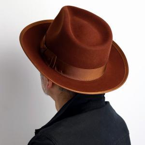 STETSON 中折れ ハット WHIPPET ステットソン ヴィンテージ ウィペット 高級 フェルト メンズ  アメリカ ブランド 紳士 帽子 ブラウン 茶 オレンジ|elehelm-hatstore