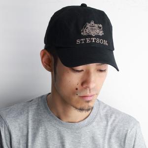 STETSON ステットソン 春夏 キャップ CAP 帽子 メンズ 帽子 コットン サイズ調節可 ブラック