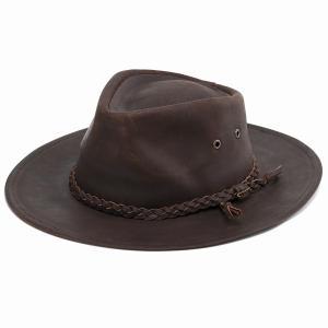 ウエスタン ハット STETSON 中折れ 帽子 秋冬 メンズ レザー 本革 カウボーイハット インポート ステットソン ビンテージ シンプル 茶 ブラウン|elehelm-hatstore