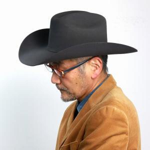 STETSON ウエスタンハット 秋冬 帽子 メンズ 高級 フェルト 中折れ テンガロン ハット ステットソン アメリカ ブランド グレー|elehelm-hatstore