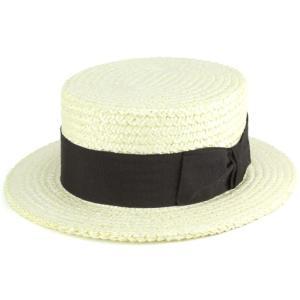 麦わら帽 春夏 tesi イタリア 高級 ストローハット カンカン帽 メンズ テシ 帽子 ブランド ユニセックス ブラックリボン|elehelm-hatstore