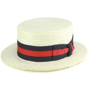 ストローハット tesi カンカン帽 メンズ テシ 麦わら帽 春夏 イタリア 高級 帽子 ブランド ユニセックス ネイビーリボン|elehelm-hatstore