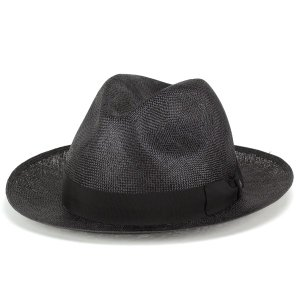 中折れハット メンズ シゾール tesi イタリア 高級 帽子 テシ 春夏 帽子 ブランド ブラック|elehelm-hatstore