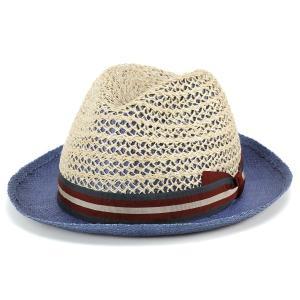 ストローハット 春夏 tesi イタリア ファッション 帽子 ペーパーハット メンズ テシ 帽子 ブランド ブルー|elehelm-hatstore